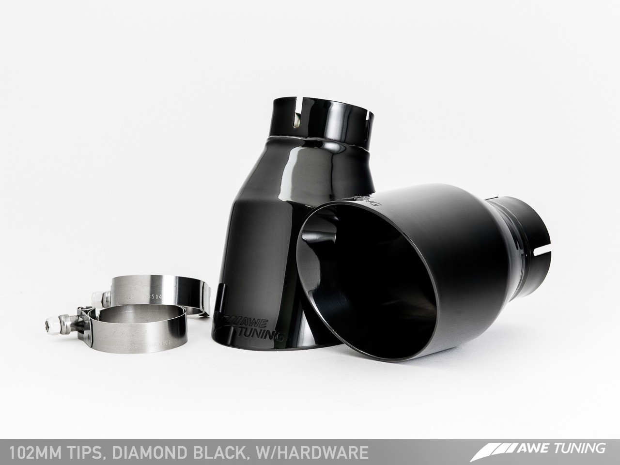 AWE Tuning Diamond Black Tailpipes