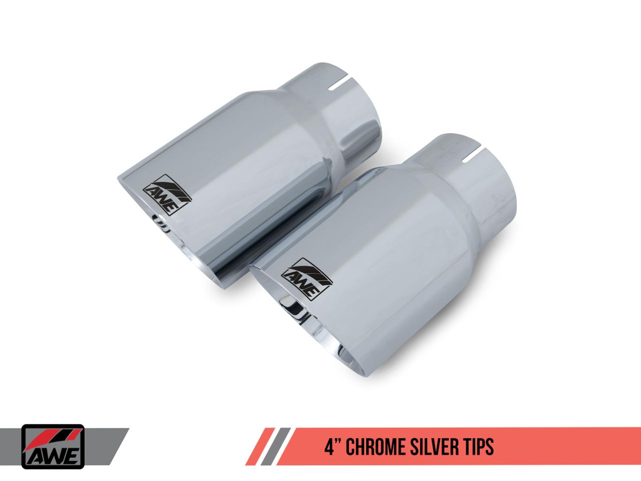 AWE Tuning Chrome Silver Tailpipe Trims