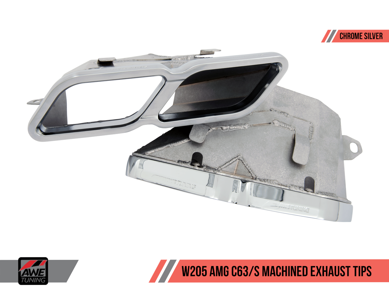 Optional Extra: AWE Tuning Machined Exhaust Tailpipe Trims - Chrome Silver