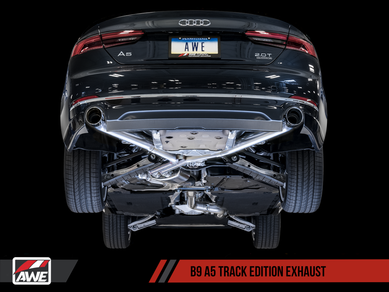AWE Tuning Audi A5 B9 2 0T Track Edition Cat-Back Exhaust