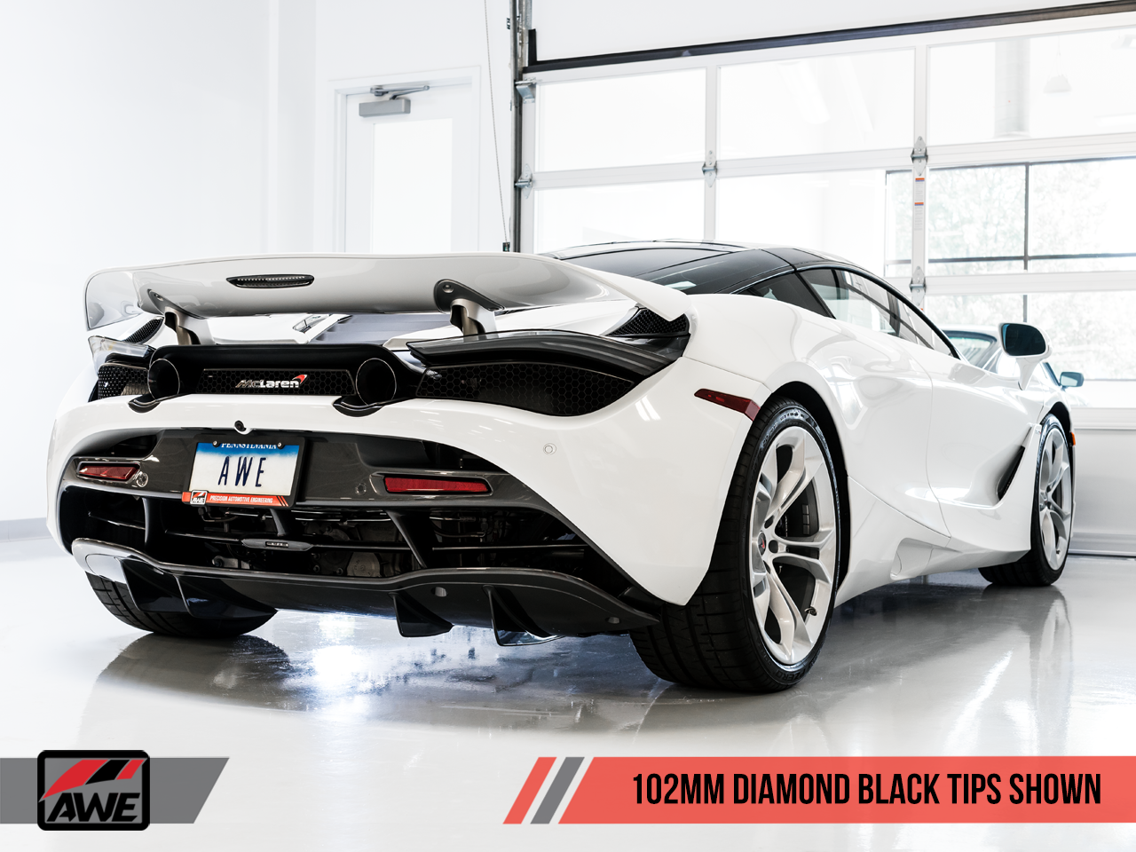 AWE Tuning Performance Exhaust for McLaren 720S - Diamond Black Tips