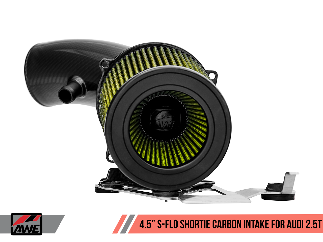 """AWE Tuning 4.5"""" S-FLO Shortie Carbon Intake for Audi RS 3 / TT RS"""