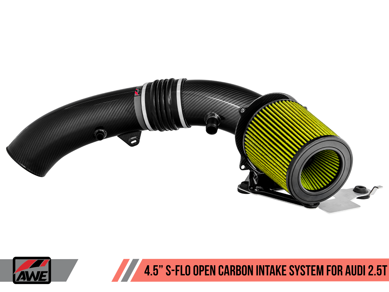 "AWE Tuning 4.5"" S-FLO Open Carbon Intake System for Audi RS 3 / TT RS"
