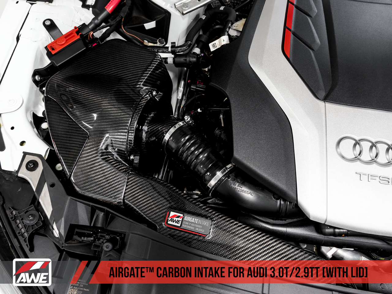 AWE Tuning  AirGate Carbon Fiber Intake for S4 S5, RS4 and RS5 B9 - With Lid