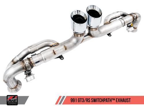 AWE Tuning Porsche 991 GT3 and GT3RS SwitchPath Exhaust