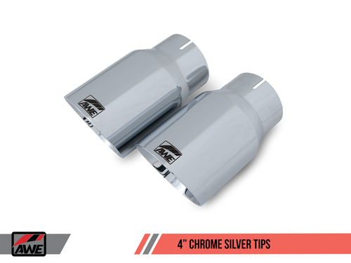 AWE Tuning Chrome Silver Tailpipe Trims