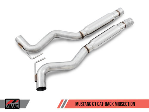 AWE Tuning Track Edition Cat Back Exhaust - Ford Mustang GT