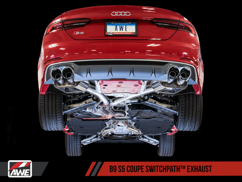 AWE Tuning Switchpath Exhaust System - Audi S5 (B9) 3.0T Coupe