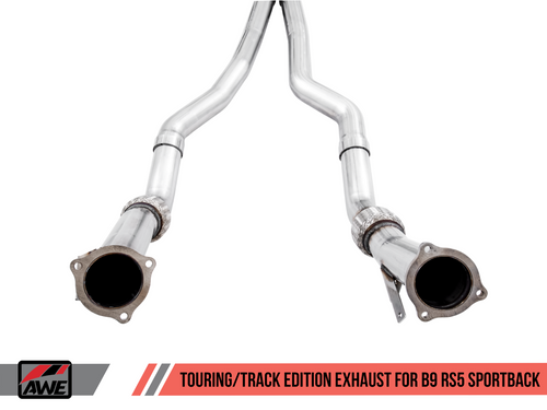 AWE Tuning Touring Edition Exhaust for Audi B9 RS 5 Sportback - Non-Resonated - Diamond Black RS-style Tips