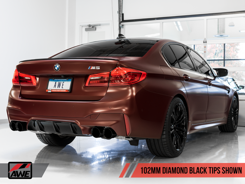 AWE Tuning SwitchPath Axle-Back Exhaust for BMW F90 M5 - Diamond Black Tips