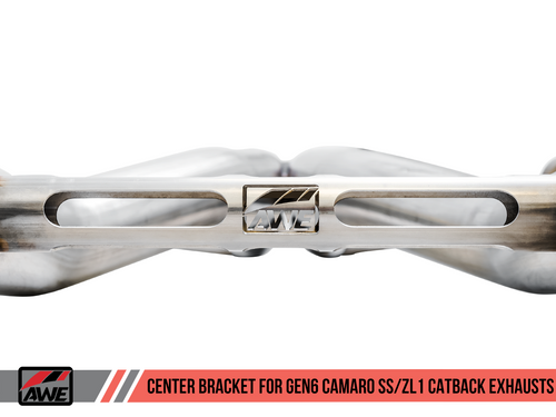 AWE Tuning Touring Edition Catback Exhaust for Gen6 Camaro SS / ZL1 - Resonated - Diamond Black Tips (Quad Outlet)