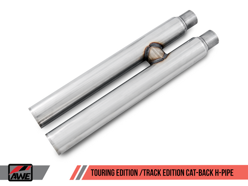 AWE Tuning Touring Edition Cat-back Exhaust for 15-17 S550 Mustang GT - Quad Outlet - Diamond Black Tips (MPC Valance)