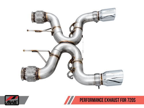 AWE Tuning Performance Exhaust for McLaren 720S - Chrome Silver Tips