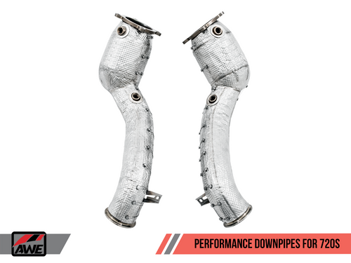 AWE Tuning Performance Downpipes for McLaren 720S (HJS 200 Cell Cats)