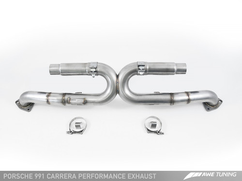 AWE Tuning Performance Exhaust for 991 Carrera - Use Stock Tips