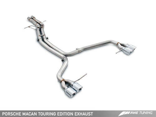AWE Tuning Touring Edition Exhaust System for Porsche Macan S / GTS / Turbo - Chrome Silver 102mm Tips