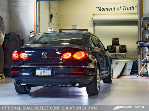 AWE Tuning Touring Edition Exhaust for VW CC 2.0T - Dual Outlet - Diamond Black Tips