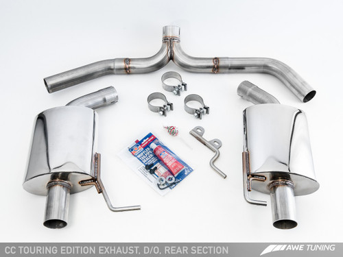 AWE Tuning Touring Edition Exhaust for VW CC 2.0T - Dual Outlet - Chrome Silver Tips