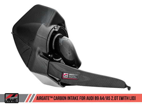 AWE Tuning AirGate Carbon Fiber Intake for Audi B9 A4 / A5 2.0T - With Lid