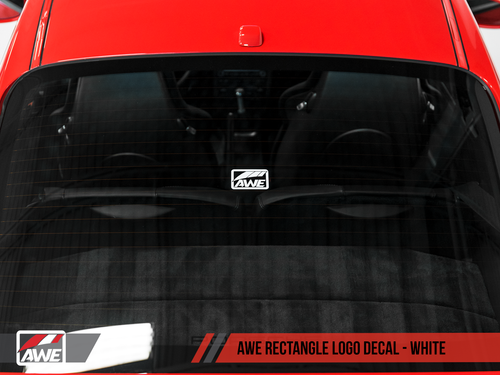 AWE Tuning Square Logo Decal - White