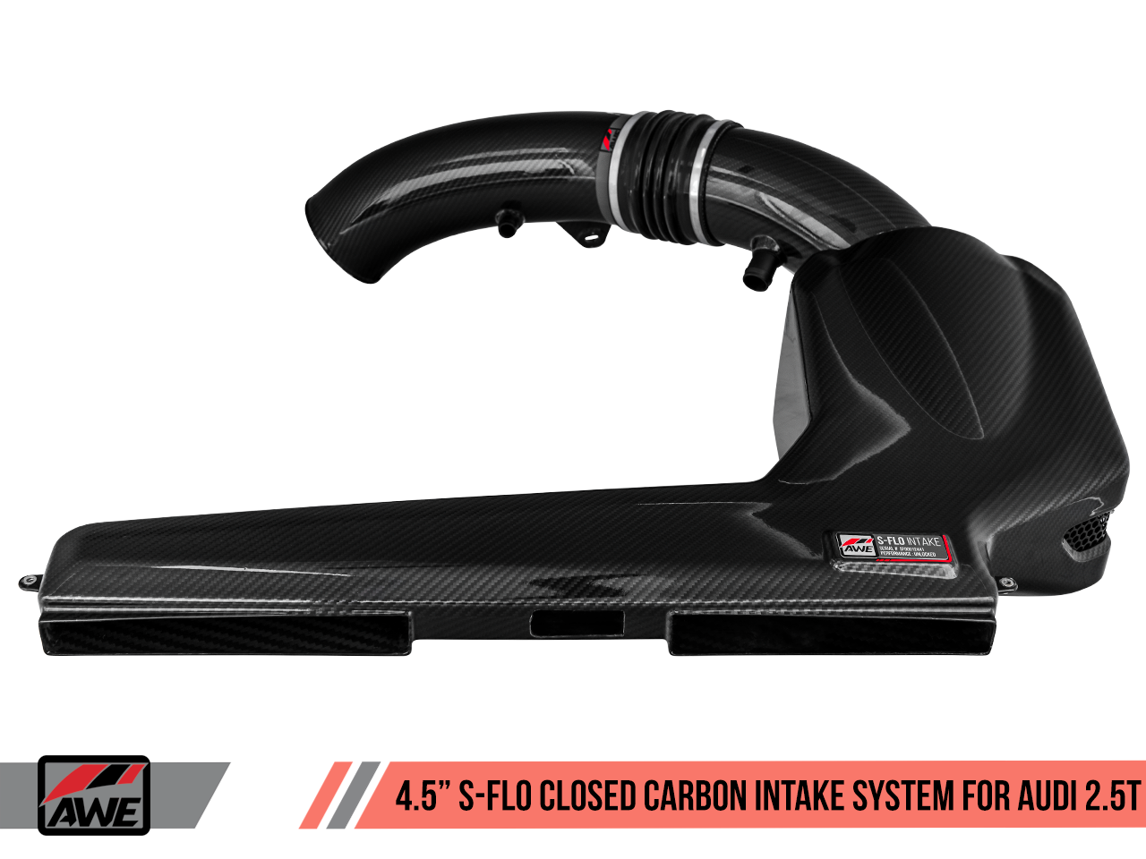 "AWE RELEASES 4.5"" S-FLO CARBON INTAKE SUITE FOR THE AUDI 8V RS 3 AND MK3 TT RS"
