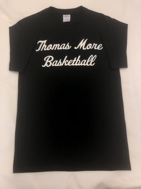 Black Basketball Script Tee