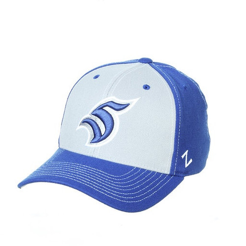 Grey and Blue Zephyr Fitted Hat