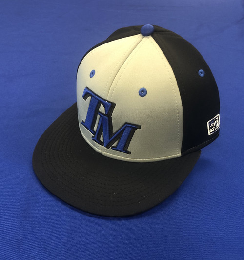 Grey and Black TM Baseball Fitted Hat