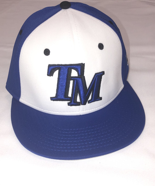 Royal and White TM Baseball Fitted Hat