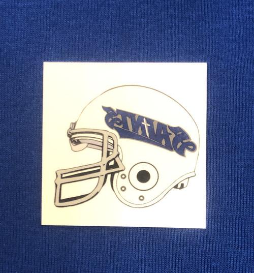 Saints Helmet Face Tattoo