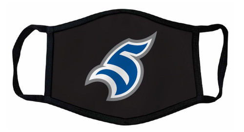 Black Face Mask with S Logo