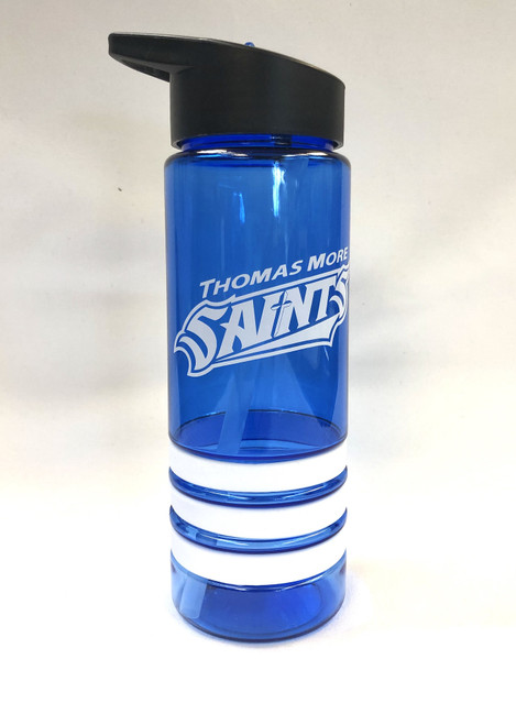 Royal and White Striped Saints Waterbottle