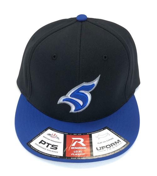 Black/Royal Flex Fit Hat