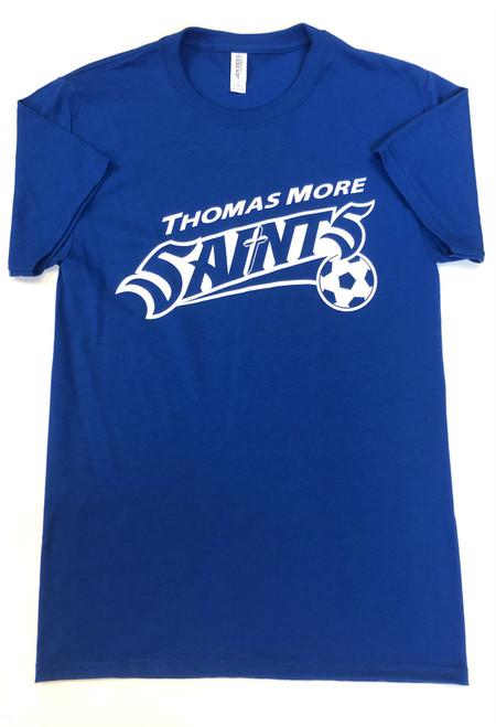 Soccer Royal Shirt White Print