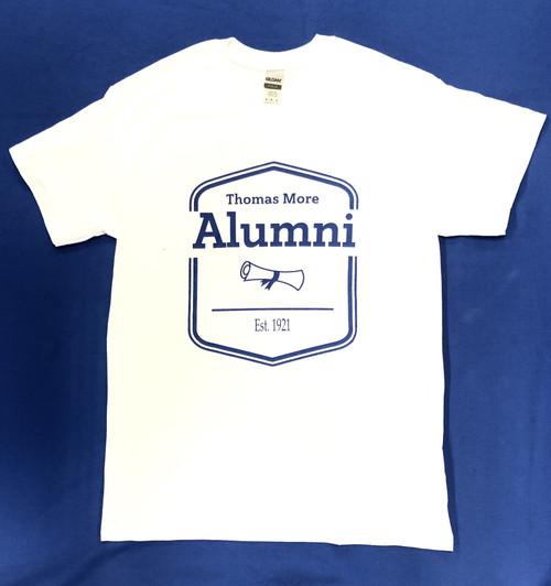 White Alumni Scroll Tee