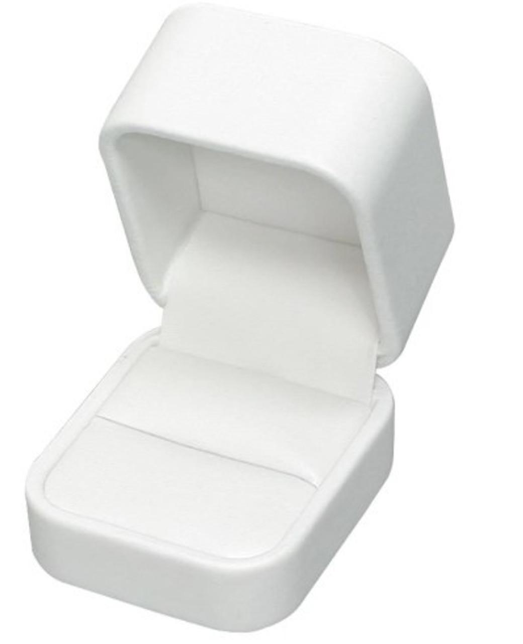 White Faux Leather Box