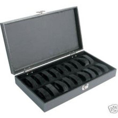 Black Hard Top Watch Case With 18 Collars