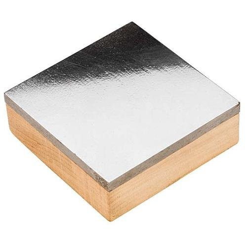 4 Inches X 4 Inches Steel Bench Block w/Wooden Base