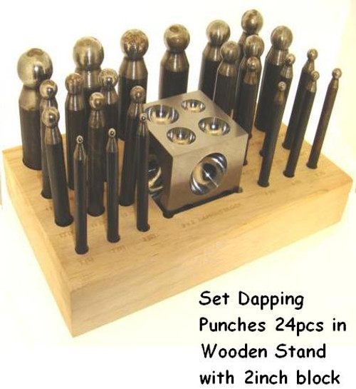 Dapping  Punches & Block Set Of 24
