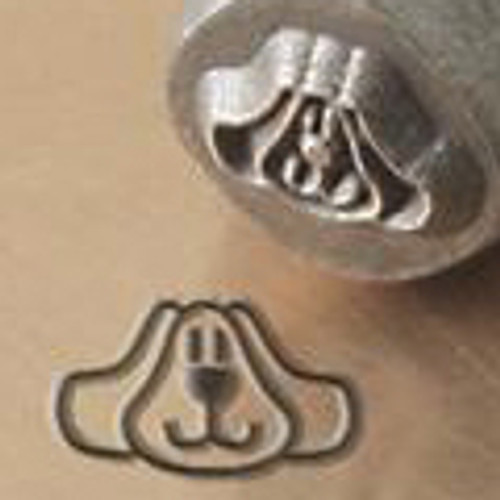 Dog Face 6mm Jewelry Stamp