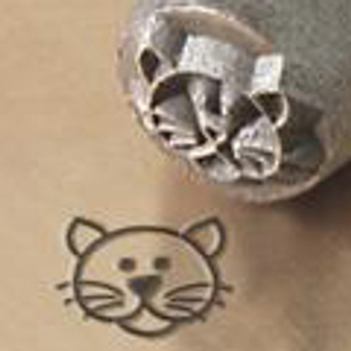 Cat Face 6mm Jewelry Stamp