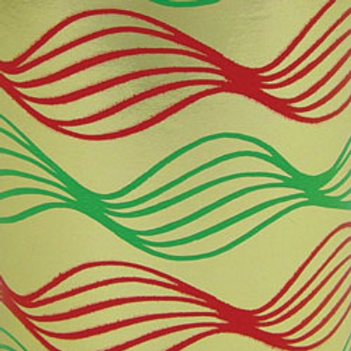 Green/Red/Gold Swirl Foil Gift Wrap Roll
