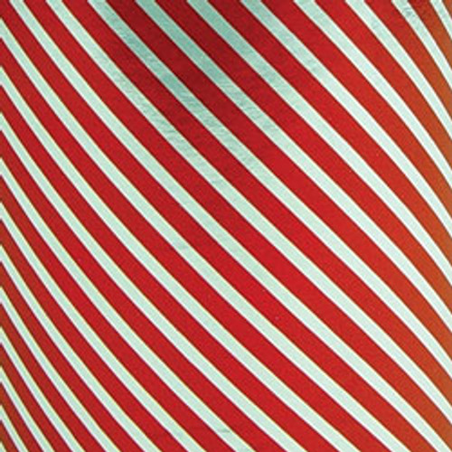 Red/Silver Stripe Foil Gift Wrap Roll