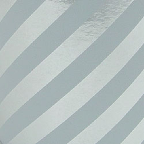 Silver Stripe Foil Gift Wrap Roll