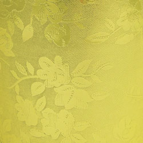 Floral Gold Gift Wrap Roll