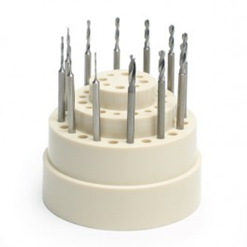 Swiss Twist Drill Bur Set of 12 pcs. ( .5 mm - .20 mm )