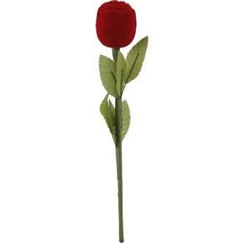 Flannel Coated Red Rose  Finger Ring Case