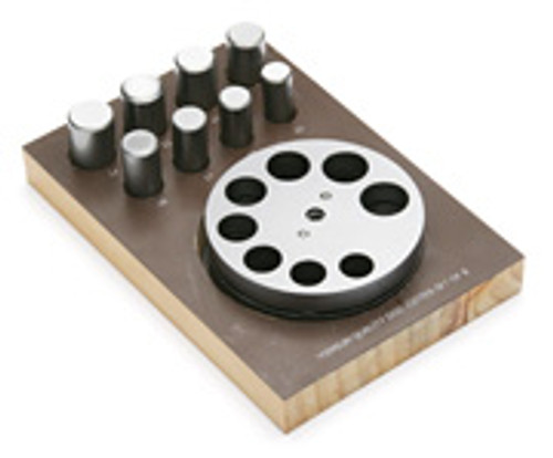 15-22MM 8 Pcs Round Disc Cutter With Wood Stand