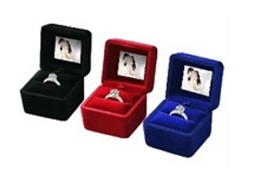 Velvet Digital Ring Box with LCD Screen ( Available in Black , Blue, Red )