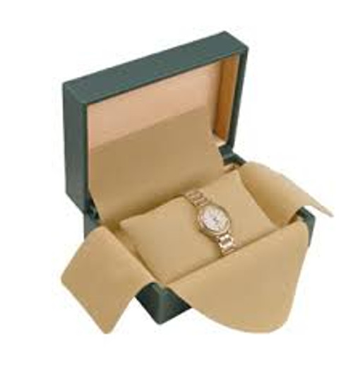 """5""""x4"""" Deluxe Green Watch Box WB101L-GN"""